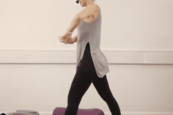 warrior 1 variation yoga posture